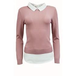 Love Label Pink Mock Jumper Shirt - 12 Pack