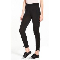 Ex V by Very Black Ruched Leggings