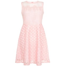 Ex Qu@z Pink Embroidered Skater Dress-  12 Pack
