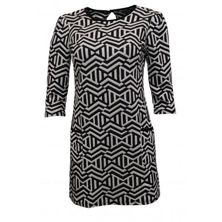 Ex DP Short Sleeve Printed Tunic Dress -  10 Pack