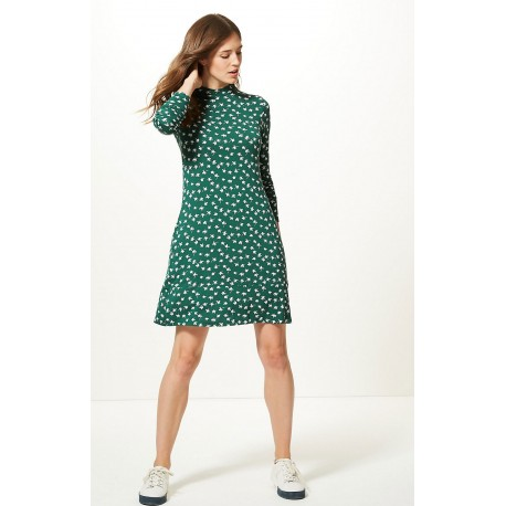 Ex MS Green Printed Swing Dress -  12 Pack