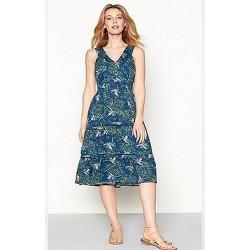 Ex M@ntaray Green Floral Dress