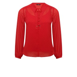 Ex Mco Red Dobby Blouse with Cami - 12 Pack
