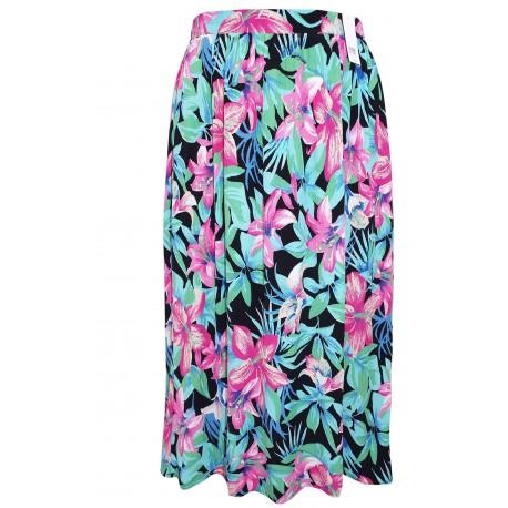 Ex DP Curve Plus Size Black Textured Skirt - 12 Pack