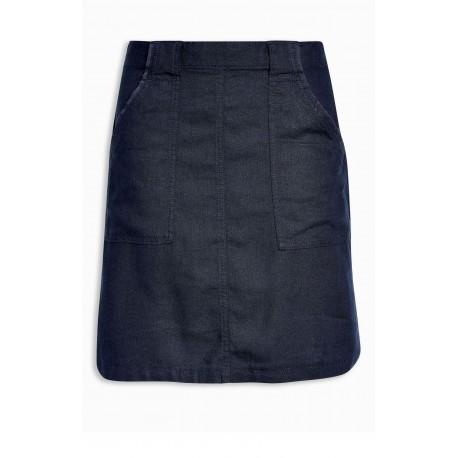 Ex N@xt Plain Linen Skirt - 11 Pack