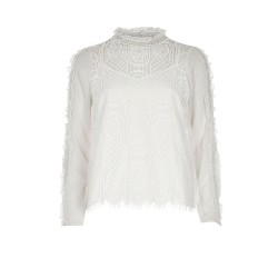 Ex RI White Lace Frill Sleeve Top  - 14 Pack