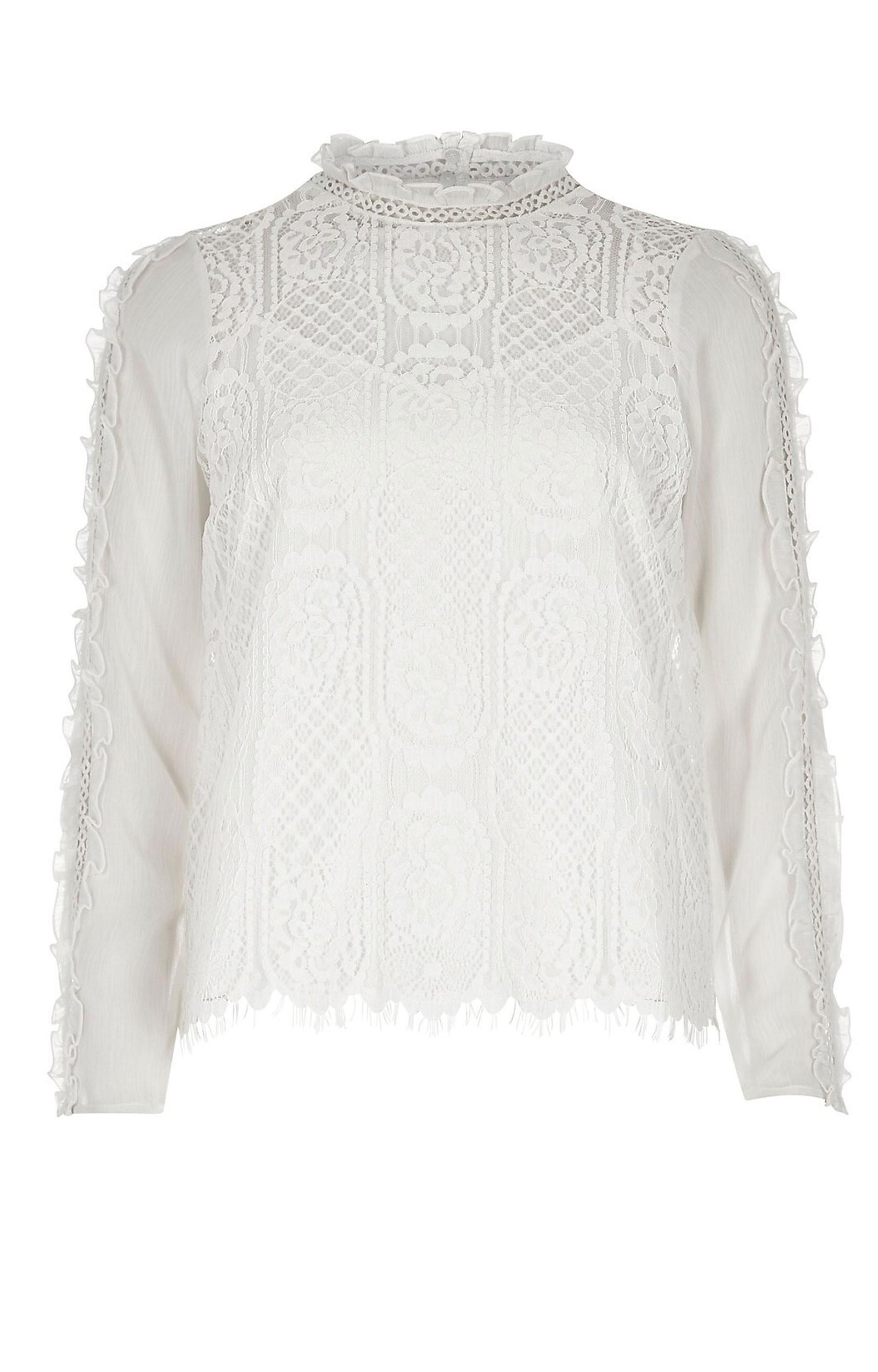 8cfebfafe42aa7 Wholesale Tiver Island White Lace Top