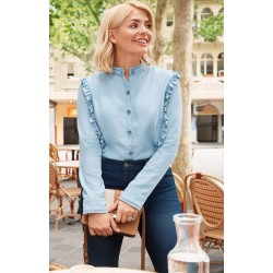Ex MS Holly Willoughby Denim Shirt  - 12 Pack