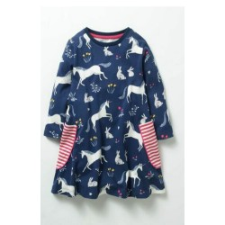 Girls Ex Mini B@d@n Unicorn Print Dress - 35 pack